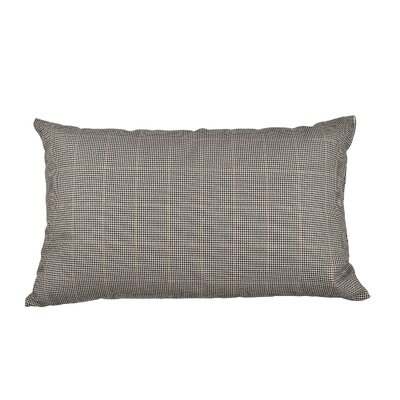 Ithaca Glenplaid Cotton Lumbar Pillow Color: Brown