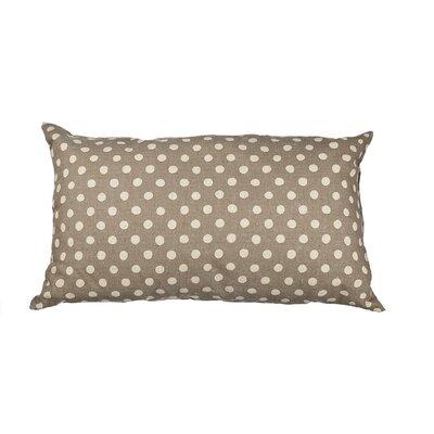 Touchette Polka Dot Cotton Lumbar Pillow Color: Gray/Cream
