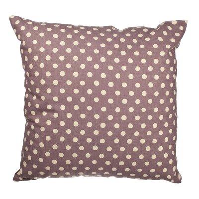 Touchette Polka Dot Cotton Throw Pillow Color: Lavender/Cream