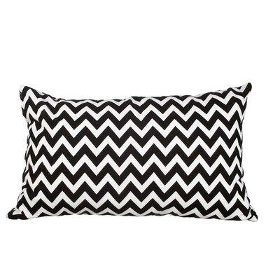 Southborough Chevron Flannel Cotton Lumbar Pillow Color: Black