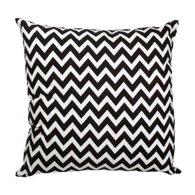 Southborough Chevron Flannel Cotton Throw Pillow Color: Black