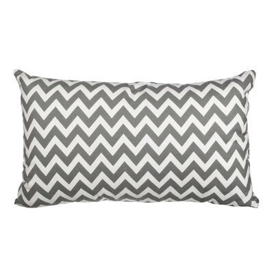 Southborough Chevron Flannel Cotton Lumbar Pillow Color: Gray