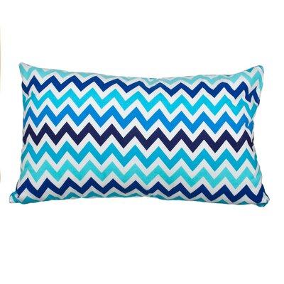 Southborough Chevron Flannel Cotton Lumbar Pillow Color: Blue