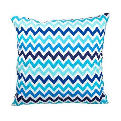 Southborough Chevron Flannel Cotton Throw Pillow Color: Blue