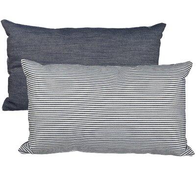 Ithaca Raw Selvedge/Stripe Cotton Lumbar Pillow