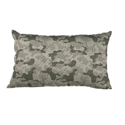 Southborough Camo Jacquard Cotton Lumbar Pillow Color: Green