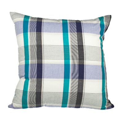 Touchette Patchwork Plaid Cotton Throw Pillow