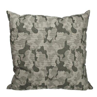 Southborough Camo Jacquard Cotton Throw Pillow Color: Green