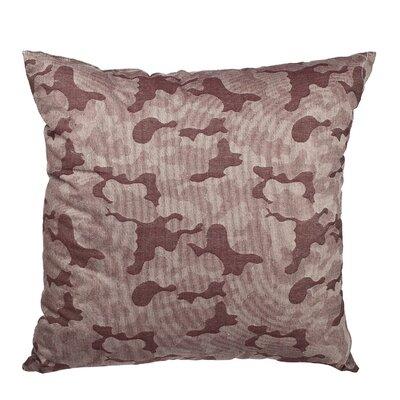 Southborough Camo Jacquard Cotton Throw Pillow Color: Red