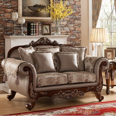 611-L MRUS1261 Meridian Furniture USA Biarritz Loveseat