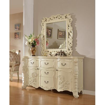 Miller 5 Drawer Combo Dresser with Mirror
