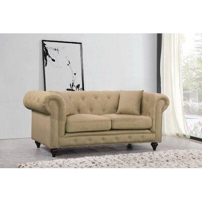 Garrett Loveseat Upholstery: Sand Linen