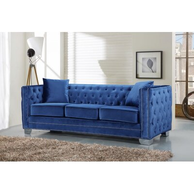 Creekside Velvet Chesterfield Sofa Upholstery: Light