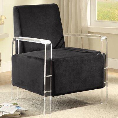 Devonshire Velvet Armchair Upholstery Color: Black