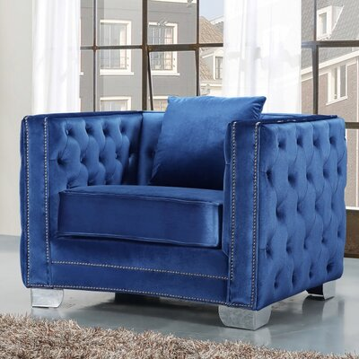Creekside Velvet Club Chair Upholstery Color: Light Blue