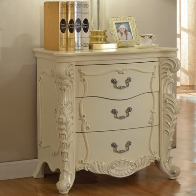 Miller 3 Drawer Nightstand