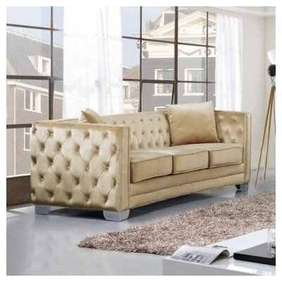 Creekside Chesterfield Sofa Upholstery: Beige