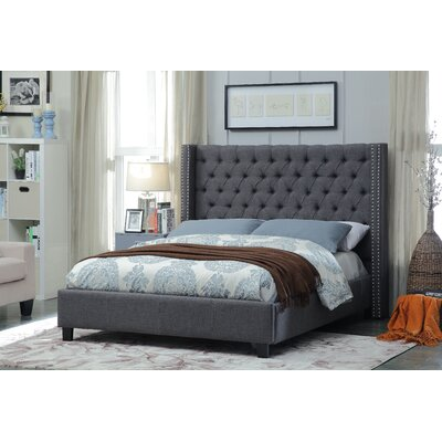 Park Upholstered Platform Bed Size: King, Color: Gray
