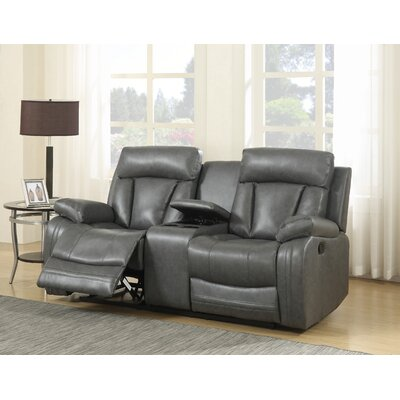 Martha Reclining Loveseat Upholstery: Grey