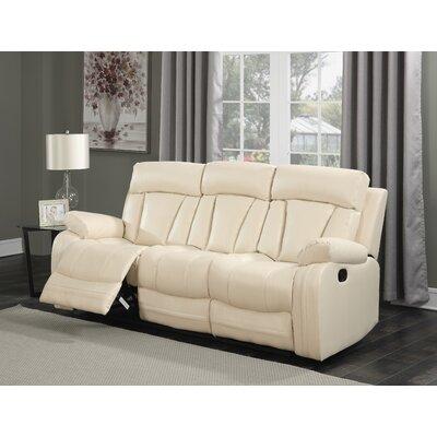 Martha Reclining Sofa Upholstery: Beige
