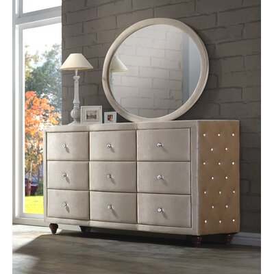 Sweeney 9 Drawer Dresser with Mirror