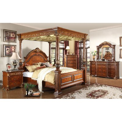 Anella Queen Canopy Customizable Bedroom Set