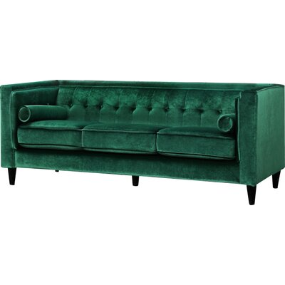Meridian Furniture USA 642Green S Taylor Velvet Sofa Upholstery