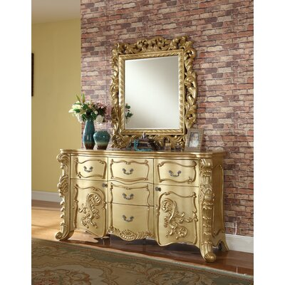 Anora 5 Drawer Dresser with Mirror