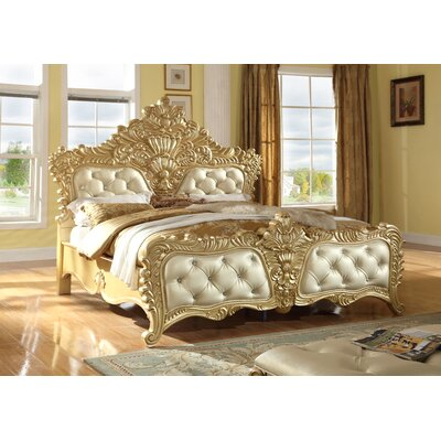 Finch Upholstered Panel Bed Size: King