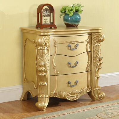 Finch 3 Drawer Nightstand