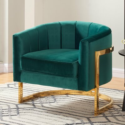 Lakeview Barrel Chair Upholstery: Green