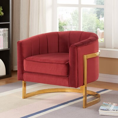 Lakeview Barrel Chair Upholstery: Burgundy