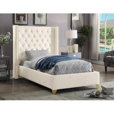 Holmes Upholstered Platform Bed Size: King