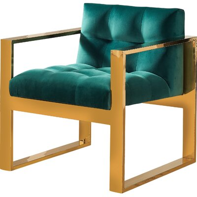 Durham Arm Chair Upholstery: Green