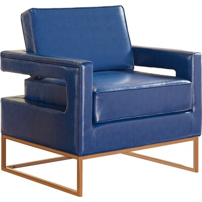 Madison Armchair Upholstery: Navy