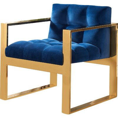 Durham Arm Chair Upholstery: Navy