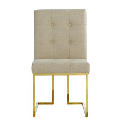 Somerset Linen Parsons Chair Upholstery: Beige