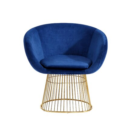 Arthur Barrel Chair Upholstery: Navy