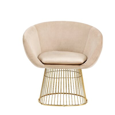 Arthur Barrel Chair Upholstery: Beige