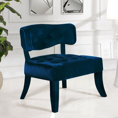 Fairway Slipper Chair Upholstery: Navy