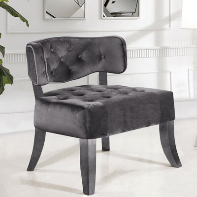 Fairway Slipper Chair Upholstery: Gray