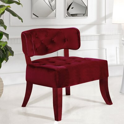 Fairway Slipper Chair Upholstery: Burgundy