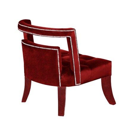Oak Barrel Chair Upholstery: Burgundy