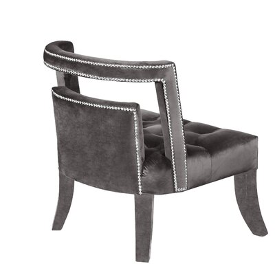 Oak Barrel Chair Upholstery: Gray