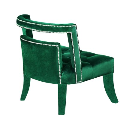 Oak Barrel Chair Upholstery: Green