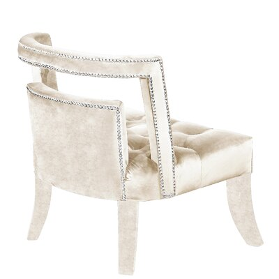 Oak Barrel Chair Upholstery: Cream