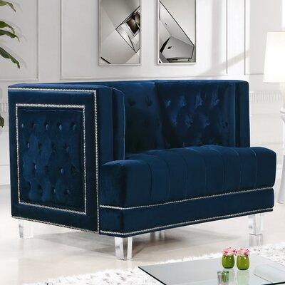 Hettie Armchair Upholstery: Navy