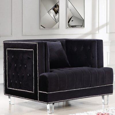Hettie Armchair Upholstery: Black