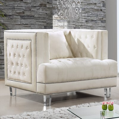 Hettie Armchair Upholstery: Cream