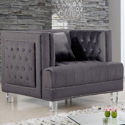 Hettie Armchair Upholstery: Gray